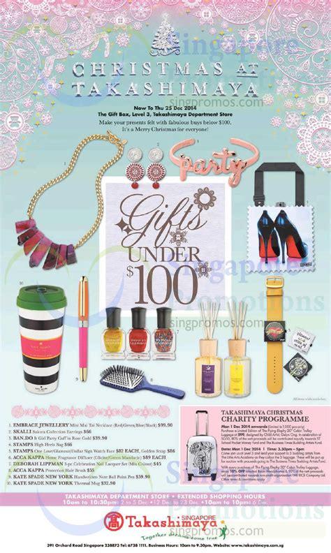 christmas presents under 100 dollars 28 nov gifts 100 dollar charity programme 187 takashimaya promotions 21