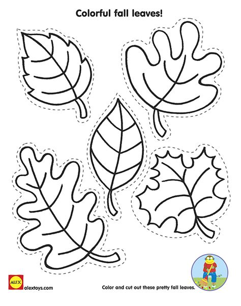 free printable fall leaves az coloring pages