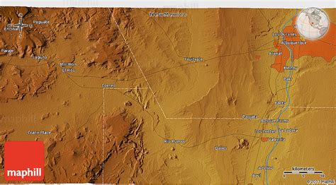 physical map of new mexico physical 3d map of albuquerque