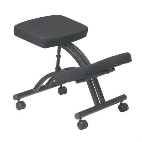 Ergonomic Chair Kneeling by Ergonomic Kneeling Office Chair With Memory Foam In Black