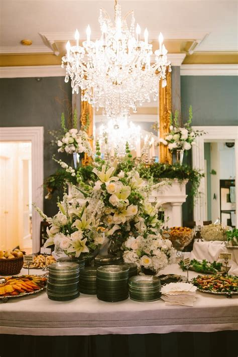 Timeless Backyard Wedding At A Private Residence In Macon Buffet Style Wedding Reception