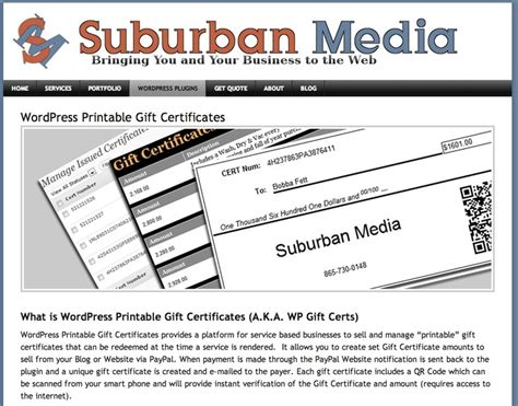 Wordpress Printable Gift Certificate Plugin | 17 best images about web resources and wordpress plugins
