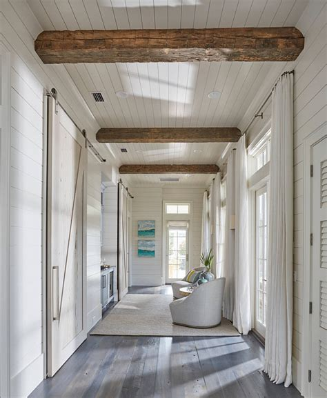 Shiplap Walls And Ceiling Florida House With New Coastal Design Ideas Home