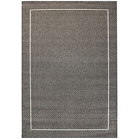 Area Rugs Miami Miami Border 5 Foot 3 Inch X 7 Foot 10 Inch Indoor Outdoor Area Rug In Grey Bed Bath Beyond