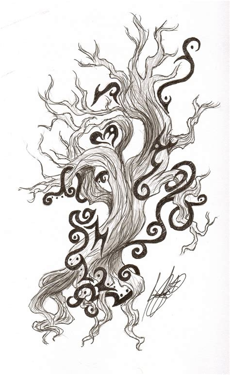 tribal tree tattoo designs celtic and tribal tree design by draconian princess on