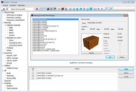katalog layout software amquake earthquake seismic masonry design software