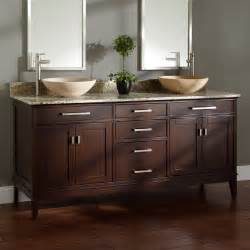 72 quot light espresso vessel sink vanity