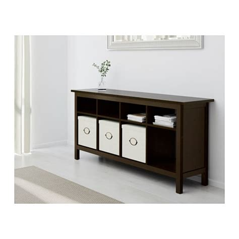 hemnes sofa table hemnes console table black brown 157x40 cm ikea