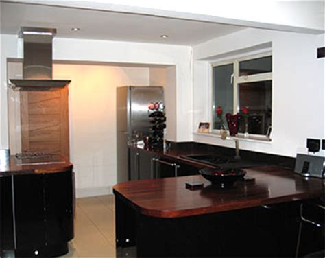 How To Clean Black Gloss Kitchen Doors by Kitchens Study Ultra Modern Gloss Iroko And