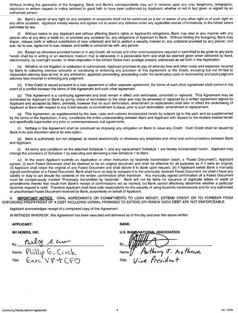 Credit Facility Agreement Letter Exhibit D