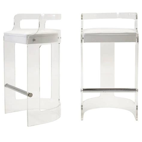 lucite bar stools for sale pair of 1970s lucite bar stools in the style of charles