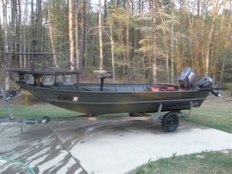 bowfishing boat sale bowfishing boat nice kicker motor boat the outdoors trader