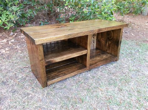 wood shoe bench rustic entryway bench