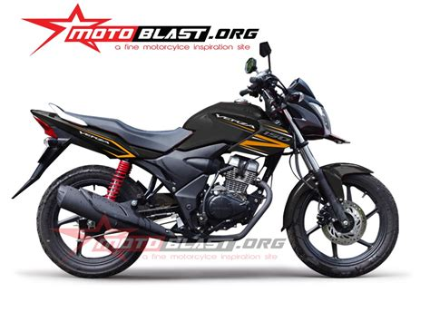 Modifikasi Motor Verza Hitam by Striping Honda Verza 150 Hitam 2014 Motoblast
