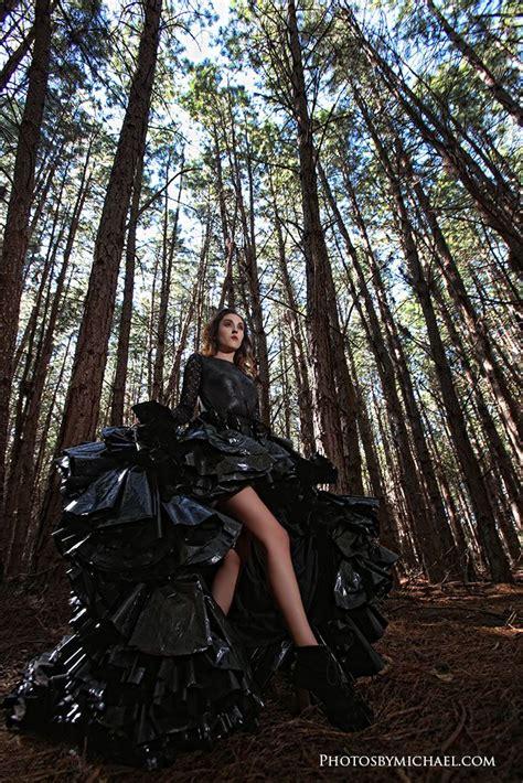 trash  dress  garbage bag dress shoot diy