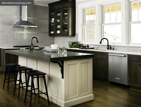 white kitchen dark island distressed kitchen cabinets contemporary kitchen