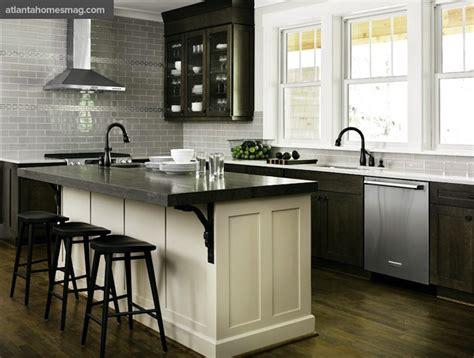 white kitchen dark island distressed kitchen cabinets contemporary kitchen