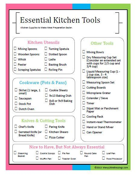 checklist essentials setting up house essential kitchen tools for easier meal preparation