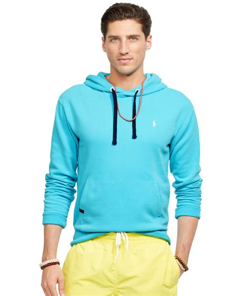 Bfs Sweater Hoodie Polos lyst polo ralph performance fleece hoodie in blue for