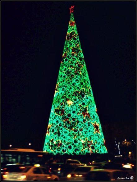 giant christmas tree madrid spain around the world through my ey