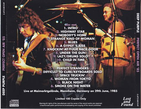 deep purple plays perfect strangers live in japan deep purple perfect open air 85 2cdr giginjapan