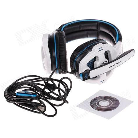 Murah Earcup Sades 903 Blue sades sa 903 multifunctional stereo headphones w microphone for computer black white blue