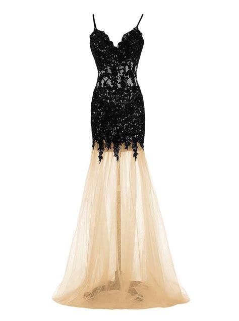 mermaid dress champagne spaghtti straps floor length prom