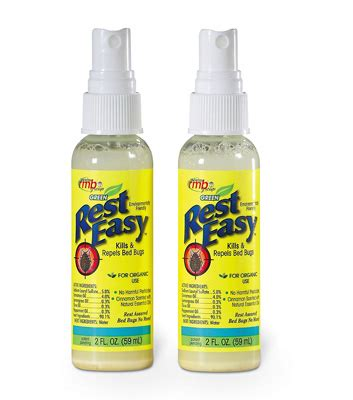 rest easy bed bug spray bed bug spray bed bug killer travel size spray 92