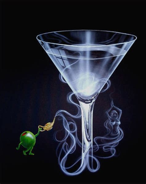 martini artist artist michael godard limited edition giclee on canvas