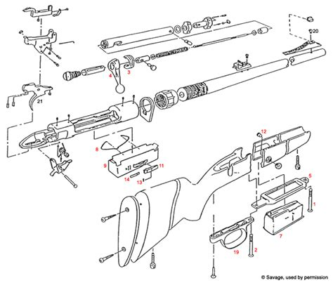 savage model 110 parts diagram 110gc 111gc 111fc 114c clip type world s largest