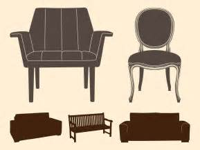 chairs and sofas chairs and sofas silhouettes vector graphics