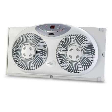 holmes twin window fan with comfort control thermostat bionaire bw2300 remote control twin window fan with