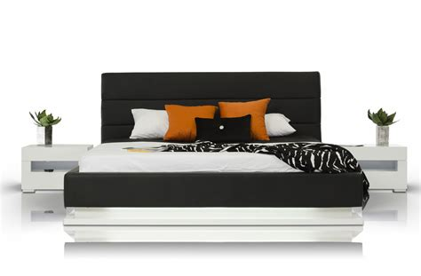 Platform Bed With Lights Infinity Contemporary Black Platform Bed W Lights