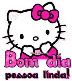 imagem face kitty desejando bom rosa em gif animado 208