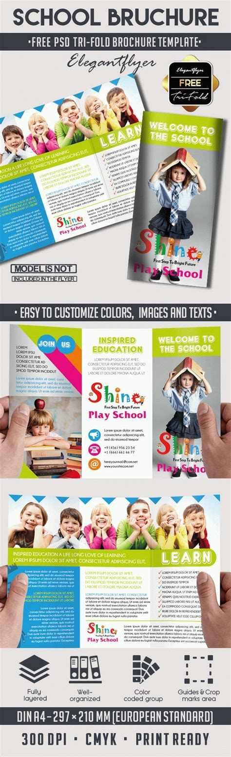 school free psd tri fold psd brochure template by