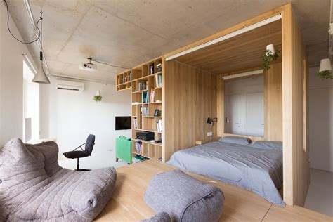 super small studio apartment   square meters