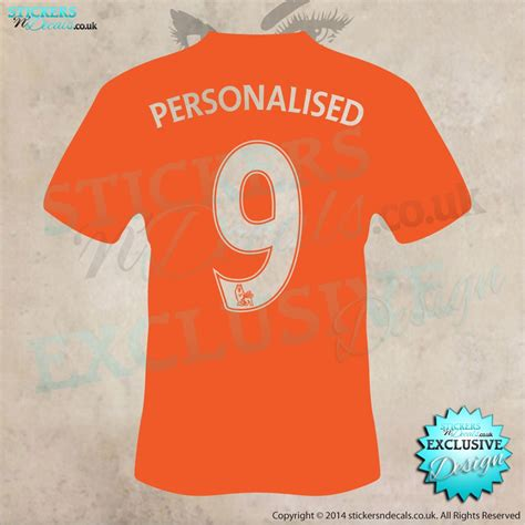 personalised name wall stickers uk personalised football shirt with number wall wall decal car sticker wall sticker vinyl