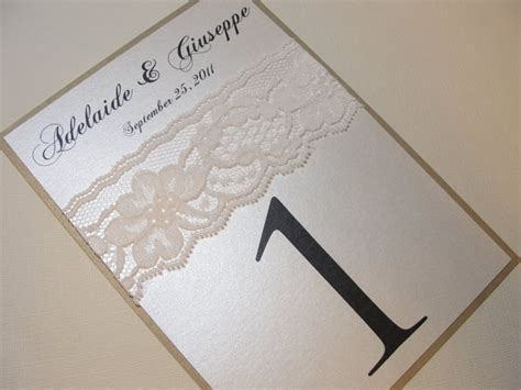 Bliss Gift Card Amount - lace table number cards by lavender paperie on