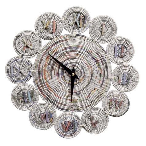 cara membuat kerajinan tangan jam dinding dari koran 130 kerajinan tangan dari barang bekas keren satu jam