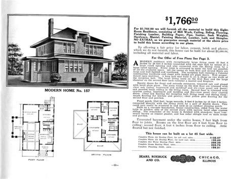 American Foursquare House Plans American Foursquare Floor Plans Sears Modern Home No 157