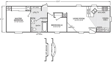 single wide mobile home floor plans 3 bedroom