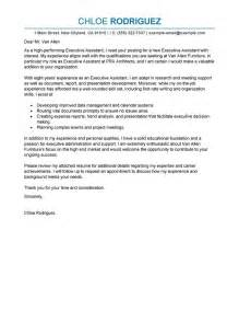 sle cover letter for executive assistant the best letter sle