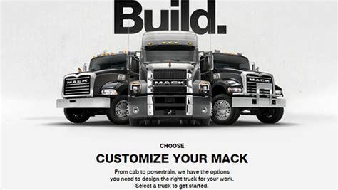 volvo truck configurator mack trucks configurator lets customers design