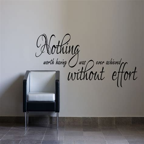 wall stickers office nothing worth inspirational wall sticker bedroom