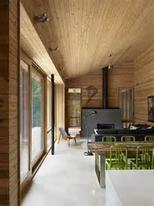 Modern Cabin Interior Ultra Modern Cabin Blends Rustic Warmth With Modern Minimalism