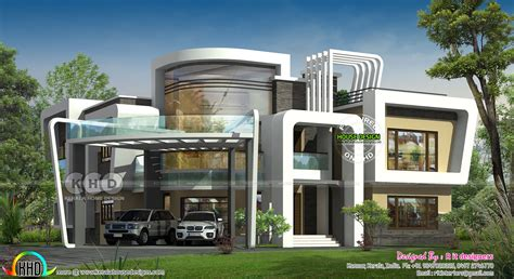 unique ultra modern house plan kerala home design and