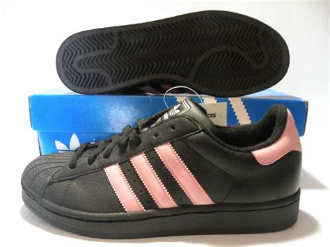 adidas superstar ii low sneakers shoes black pink 038131 size 8 5 new