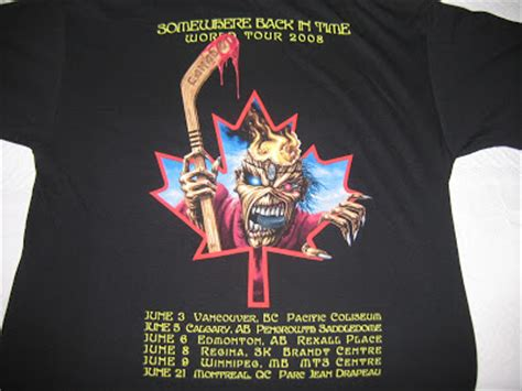Tshirt World Time my iron maiden collection official t shirts and clothes somewhere back in time world tour 2008