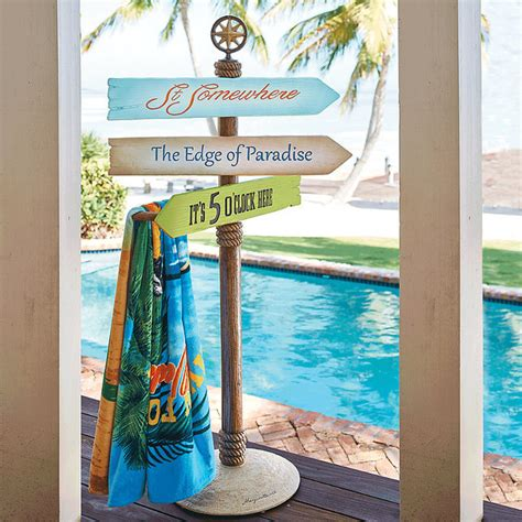margaritaville home decor margaritaville st somewhere towel stand traditional