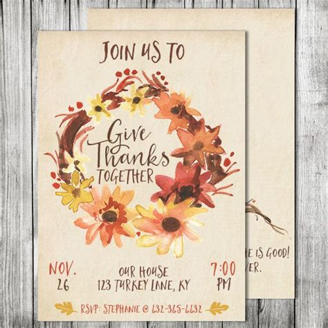 thanksgiving invite friendsgiving invite holiday invite